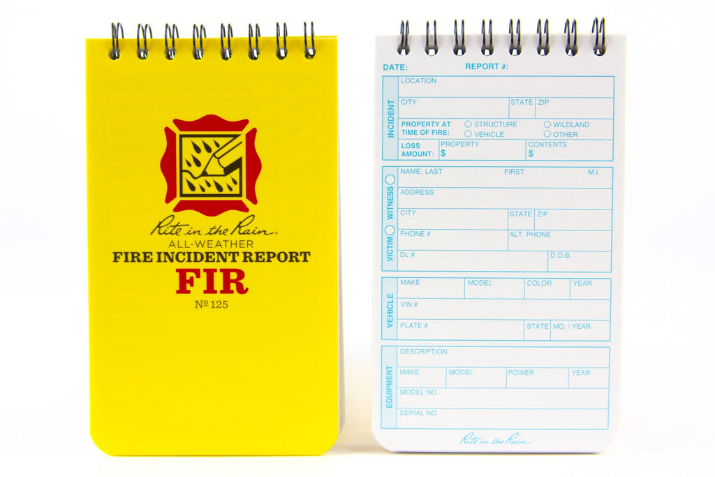 Rite in the rain waterproof notebook by Recycled Firefighter