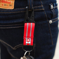 H&K key clip. Made in the USA. Recycled Firefighter