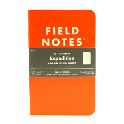 Field Notes Notebook Expedition 3Pack