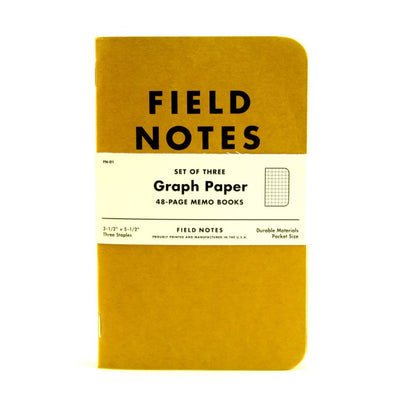 Field Notes Notebook Kraft Graph 3Pack