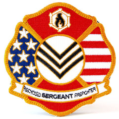 Maltese cross moral patch by recycled firefighter