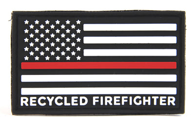 Red Line Flag Patch Red & Black