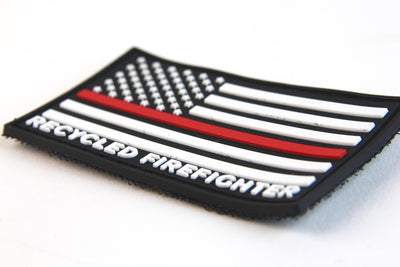 Thin Red Line Flag Patch by Recycled Firefighter