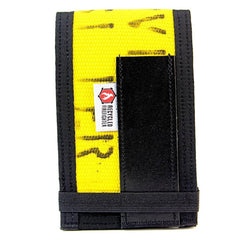 Yellow and Black riteintherain notebook cover by recycled firefighter