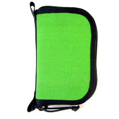 Fire Hose Zippered Pouch - Small Green & Black Bag
