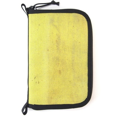 Fire Hose Zippered Pouch - Large Yellow & Black Bag