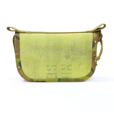 Fire Hose Zippered Pouch - Small Yellow & Multicam Bag