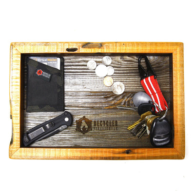 Recycled Barn Wood EDC Tray - Small