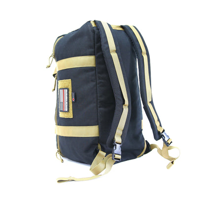 42L Battalion Duffle Backpack Black & Coyote Backpack