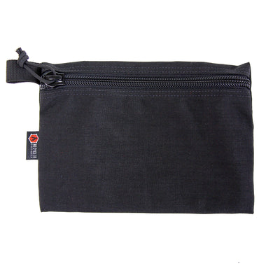 Flat Zippered Gear Pouch Large Black