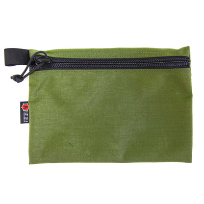 Flat Zippered Gear Pouch Large Olive Drab