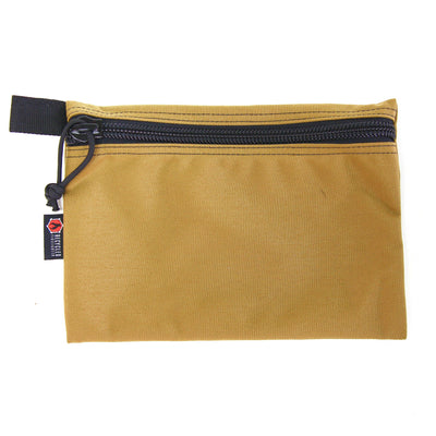Flat Zippered Gear Pouch Large Coyote