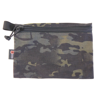 Flat Zippered Gear Pouch Large Multicamblack