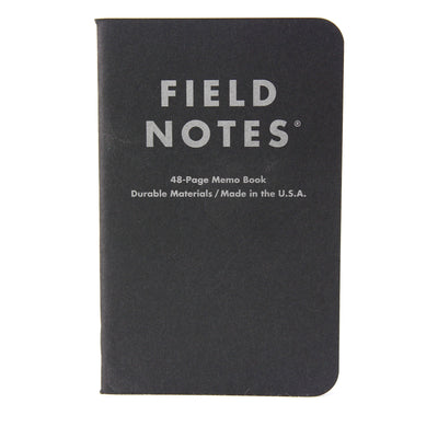 Field Notes Notebook Black Ruled Single