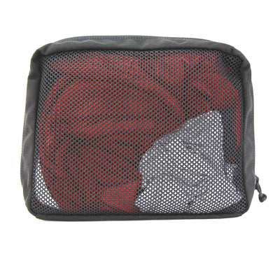 Mesh 24Hr Pouch - Large Black Zippered Bag