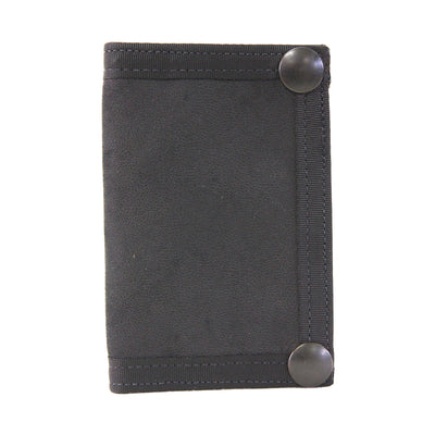 Snap Wallet Black Leather Fire Hose