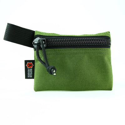 Flat Zippered Gear Pouch Small Olive Drab