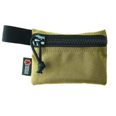 Flat Zippered Gear Pouch Small Coyote
