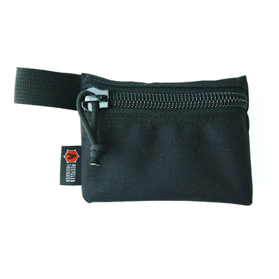 Flat Zippered Gear Pouch Small Black