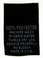 Black 100% Polyester Woven Clothing Sewing Garment Care Label Tags (50-1000pcs)