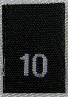Black Woven Clothing Sewing Garment Label Size Tags - 10 - TEN (50-1000pcs)