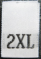 White Woven Clothing Sewing Garment Label Size Tags - 2XL - Extra Extra Large (50-1000pcs)