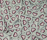 Double Pink Heart Woven Clothing Sewing Garment Label Tags (50-1000pcs)
