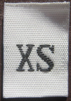 White Woven Clothing Sewing Garment Label Size Tags - XS - Extra Small (50-1000pcs)