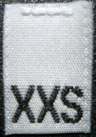 White Woven Clothing Sewing Garment Label Size Tags - XXS - Extra Extra Small (50-1000pcs)