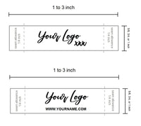 Custom Printed Professional Satin Clothing Sewing Label Tags - Black Thermal Ink on White Satin (100-100000pcs)