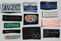 Custom Logo Professional Multi-Color Damask Woven Clothing Sewing Labels (250-10000pcs)