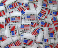 White American Flag Made in USA Woven Clothing Sewing Garment Label Tags (25-10000pcs)
