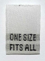 White One Size Fits All Woven Clothing Sewing Garment Care Label Tags (50-1000pcs)