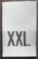 White Woven Clothing Sewing Garment Label Size Tags - XXL - Extra Extra Large (50-1000pcs)