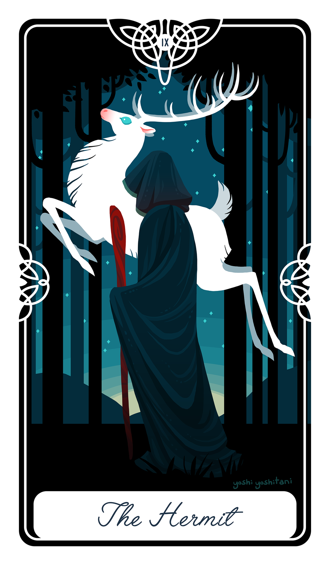 The Hermit Tarot Print