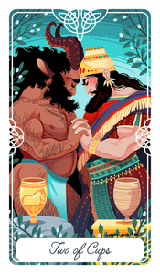 Two of Cups Tarot Print