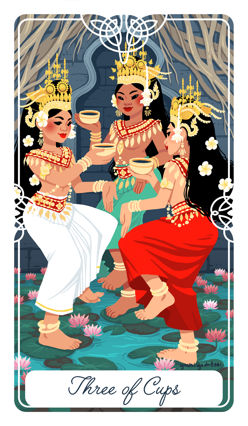 Three of Cups Tarot Print