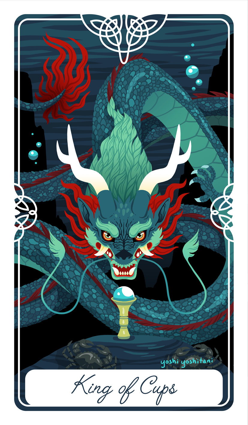 King of Cups Tarot Print