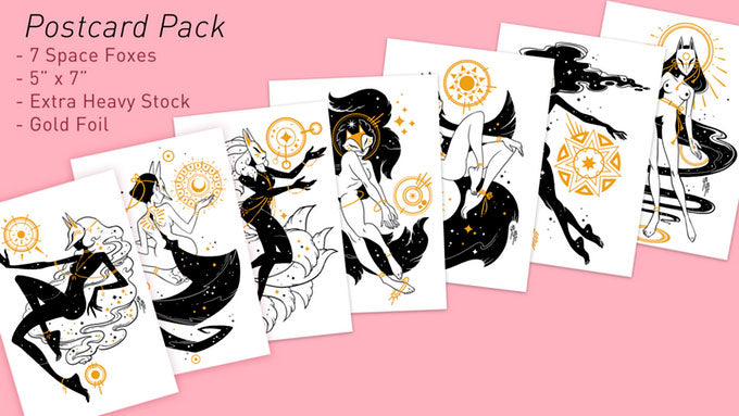 Celestial Fox Postcard Set