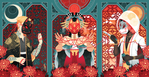 Fox Wedding Triptych: Bride Print