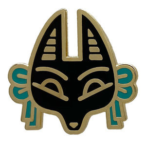 Jackal Animal Mask Enamel Pin