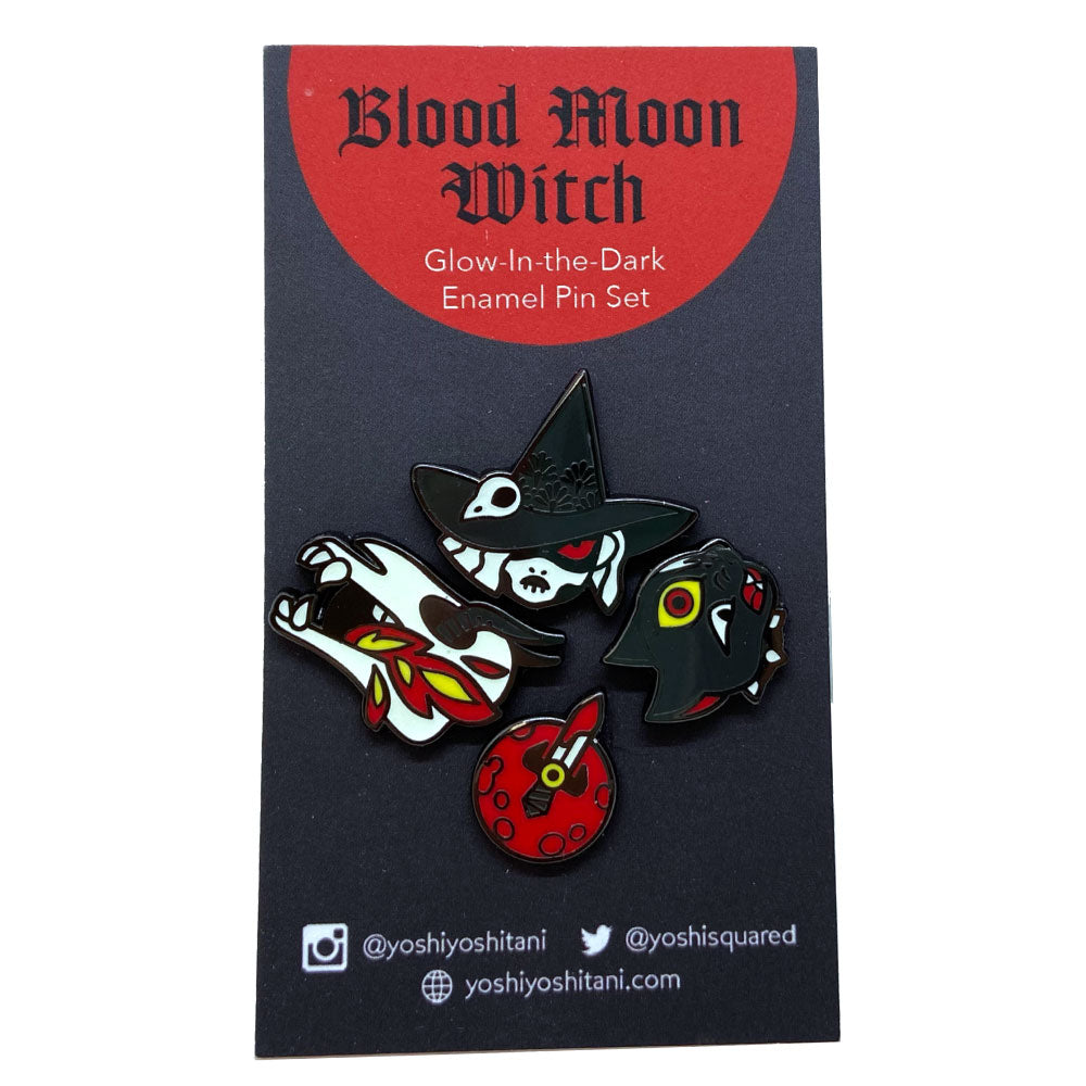 Blood Moon Witch Pin Set