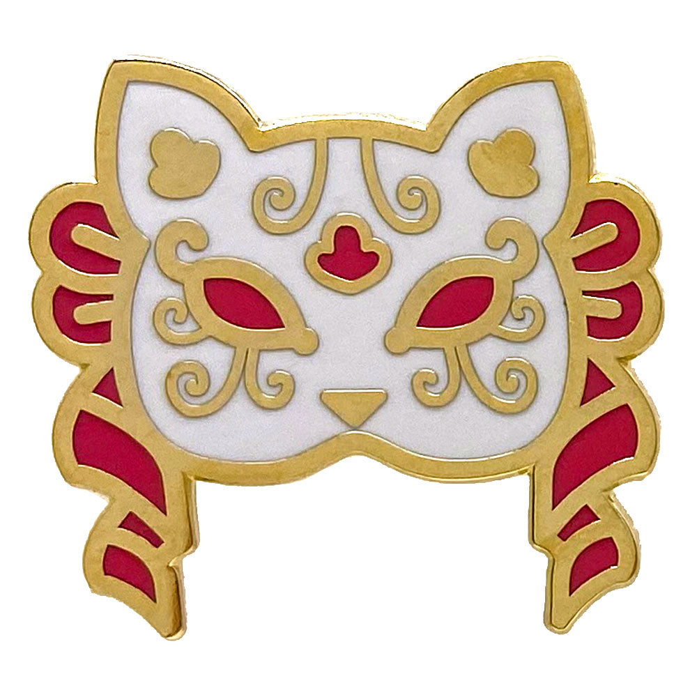 Cat Animal Mask Enamel Pin