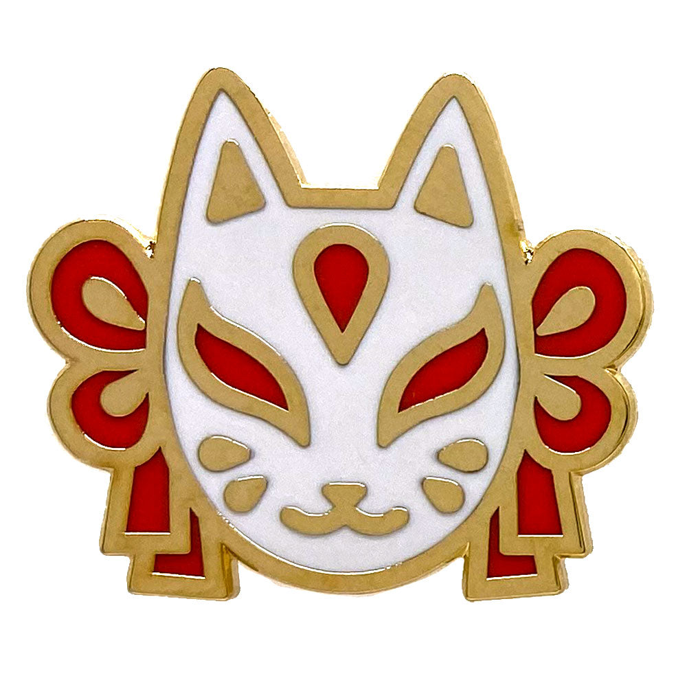 Fox Animal Mask Enamel Pin