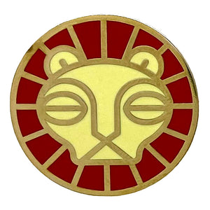 Lion Animal Mask Enamel Pin