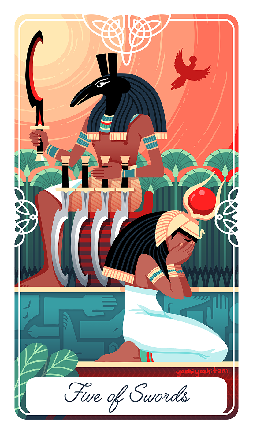Five of Swords Tarot Print