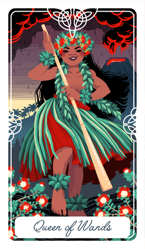 The Queen of Wands Tarot Print