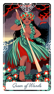 Queen of Wands Tarot Print