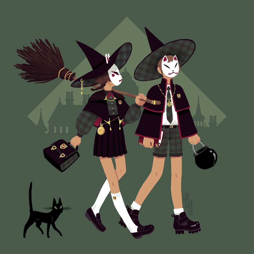 Foxy Fashions: Witch Prep School Print