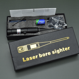 Laser shot tester | Red | Sighting aid | 8 adapters from 4.5mm to 50 kailbers